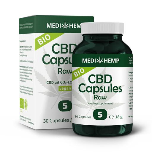 CBD capsules Raw van Medihemp 5%